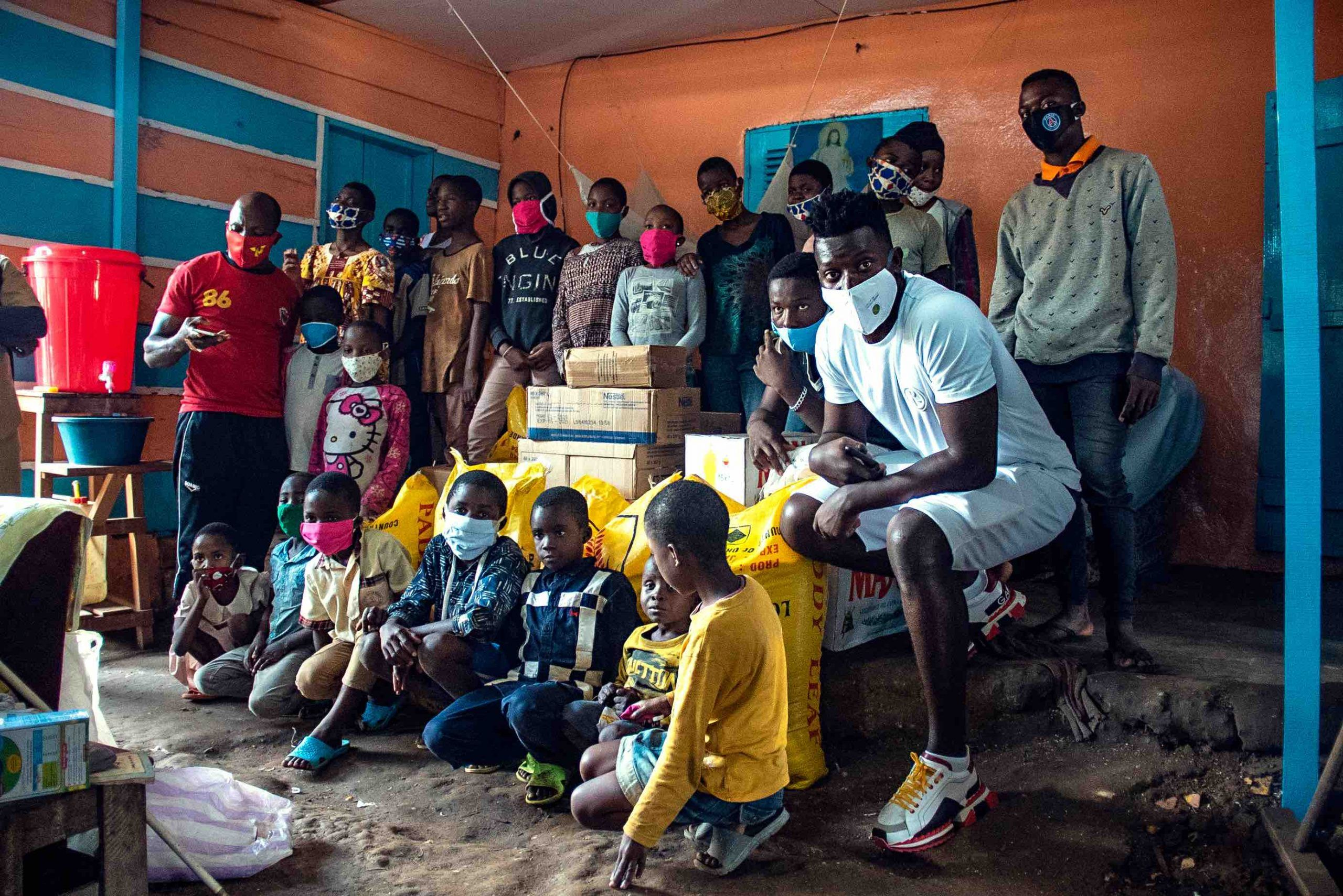 André Onana Foundation Donates Food And Other Supplies To Four Yaoundé Orphanages